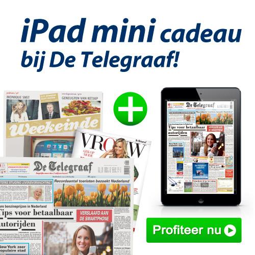 bij De Telegraaf ontvangt u nu een Ipad mini cadeau